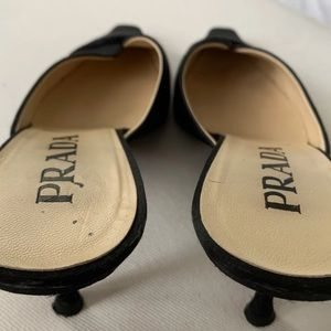 Authentic Prada Kitten Satin Heels